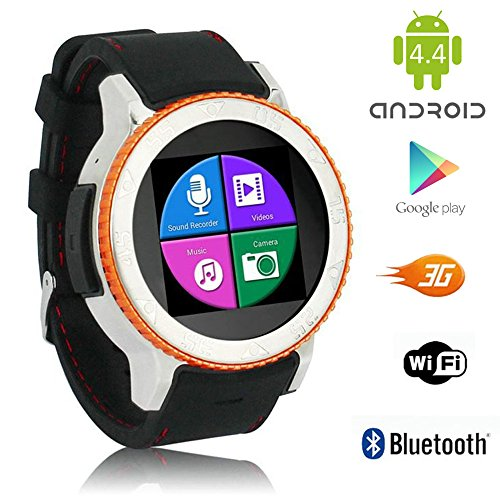 Indigi GSM UNLOCKED Android 4.4 Smartphone Watch 3GWiFi Google Play Store Waterproof Smart Watches Unlocked Smartphone