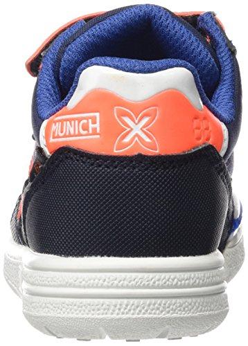 Munich Unisex-Baby G3 Hallenfußballschuhe Bleu (Marine/Orange)