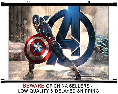 Amazon Com Captain America Comic Book Fabric Wall Scroll Poster 32x21 Inches Posters Prints