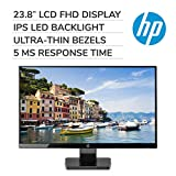 HP 23.8' 24W HDMI/VGA 1080P Widescreen Micro-Edge 5ms LED IPS Monitor (Black)