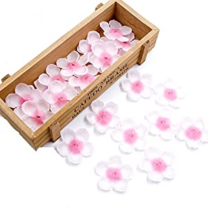 Yalulu 500Pcs Romantic Pink Rose Petals Silk Artificial Cherry Blossom Table Confetti For Home Wedding Party Decoration Fake Artificial Flower 68