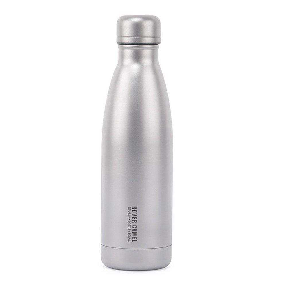Kinmour 二重真空フラスコ チタン水筒登山キャンプ用ボトル 超軽量アウトドアボトル 500ml 健康 抗菌 錆びない B07G2K2VRR