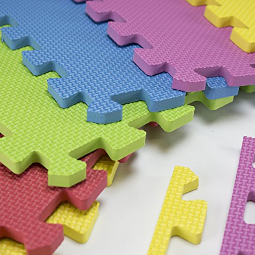 Foam Play Mats 16 Tiles Borders Safe Kids Puzzle