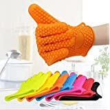 Silicone BBQ Barbecue Gloves - Oven Mitts - Heat Resistant - Dishwasher Safe