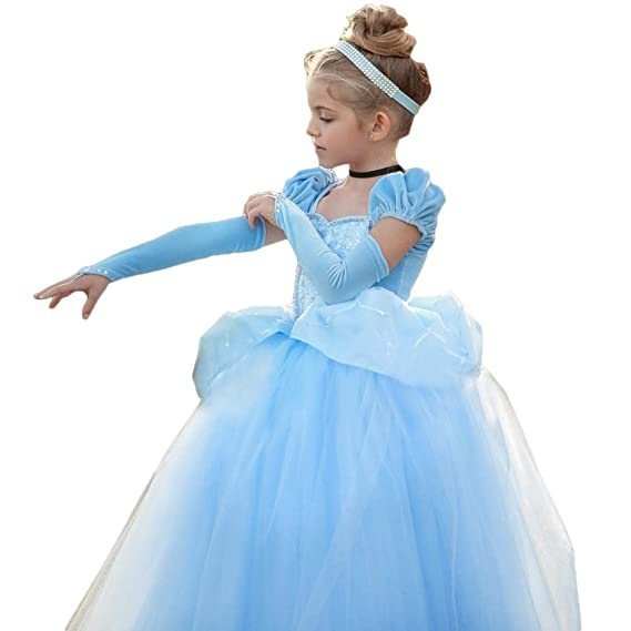 ee144988ab0 Cinderella Dress Princess Costume Halloween Fancy Party Dress up Outfit  Cosplay Dresses