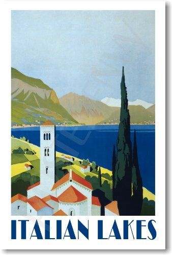 Italian Lakes - NEW Vintage Reproduction World Travel Poster