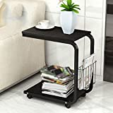 Simple modern mobile small coffee table / side cabinet partition rack / living room sofa small square table ( Color : C )
