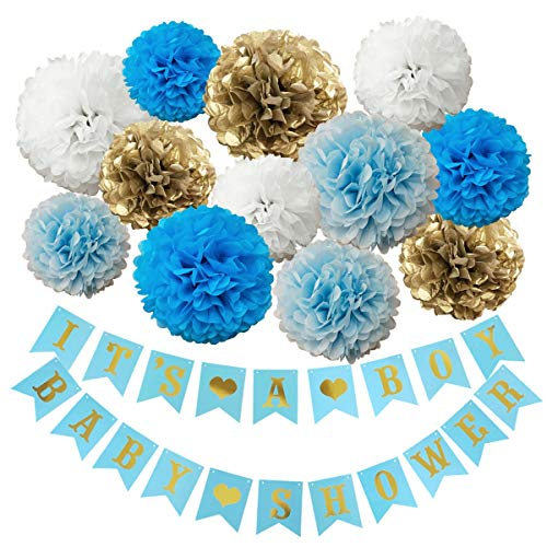 InBy It's a Boy Baby Shower Decoration Kit for Boy Blue Baby