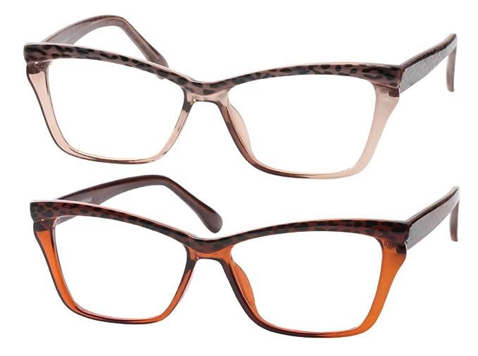 bb7de205957 Amazon.com  SOOLALA Womens Leopard Butterfly Reading Glasses Fashion ...