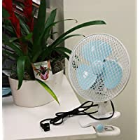 USA Premium Store 7 2 SPEED OSCILLATING MULTI-USE FAN STAND UP, WALL MOUNT, OR CLIP ON 110v
