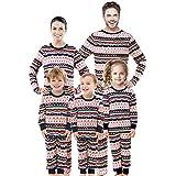 Rnxrbb Family Christmas Matching Pajamas Set Pjs Xmas Pyjamas Holiday Jammies Kids Boys Girls Sleepwear Stripes Pants,Women,M