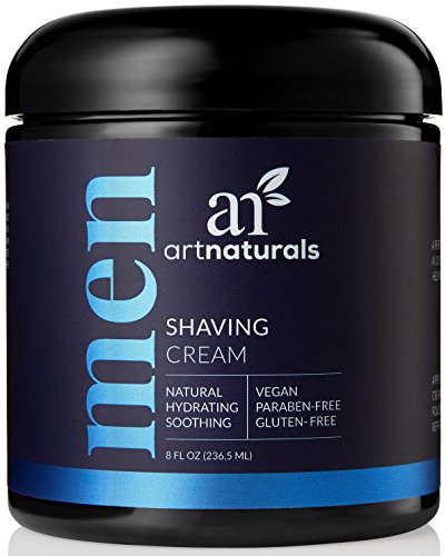 Art Naturals Mens Shaving Cream 8 Oz -Natural, Hydrating & Soothing - Great for Sensitive Skin
