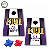 VictoryStore Cornhole Games - Fiji Cornhole Bag Toss Game - Vertical Stripe - 8 Bags Included