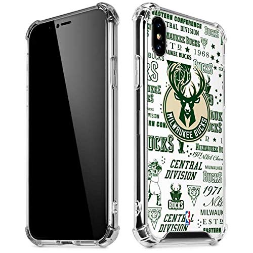 Skinit Milwaukee Bucks Historic Blast New iPhone XR Clear Case - Officially Licensed NBA Phone Case Clear - Transparent iPhone XR Cover