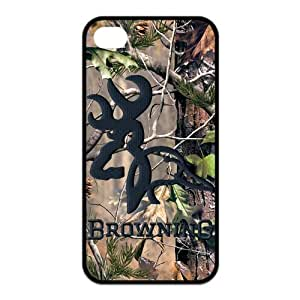 Tree Camouflage Camo Browning Case Cover for Iphone 4 4s (TPU)