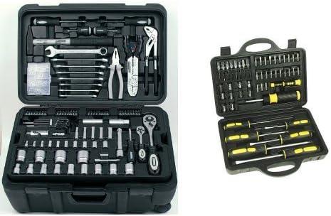 Mannesmann - M29070 - Maletín de herramientas móvil, 122 piezas + M29849 - Juego de puntas de destornilladores, 49 piezas: Amazon.es: Bricolaje y herramientas