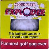 """Cloud-Flite Exploder Exploding Golf Ball Gag 1.68"""" Prank, White"""