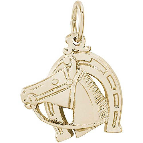 Rembrandt Charms Horse Charm, Gold Plated Silver (Rembrandt Horse Plated Charm Gold)