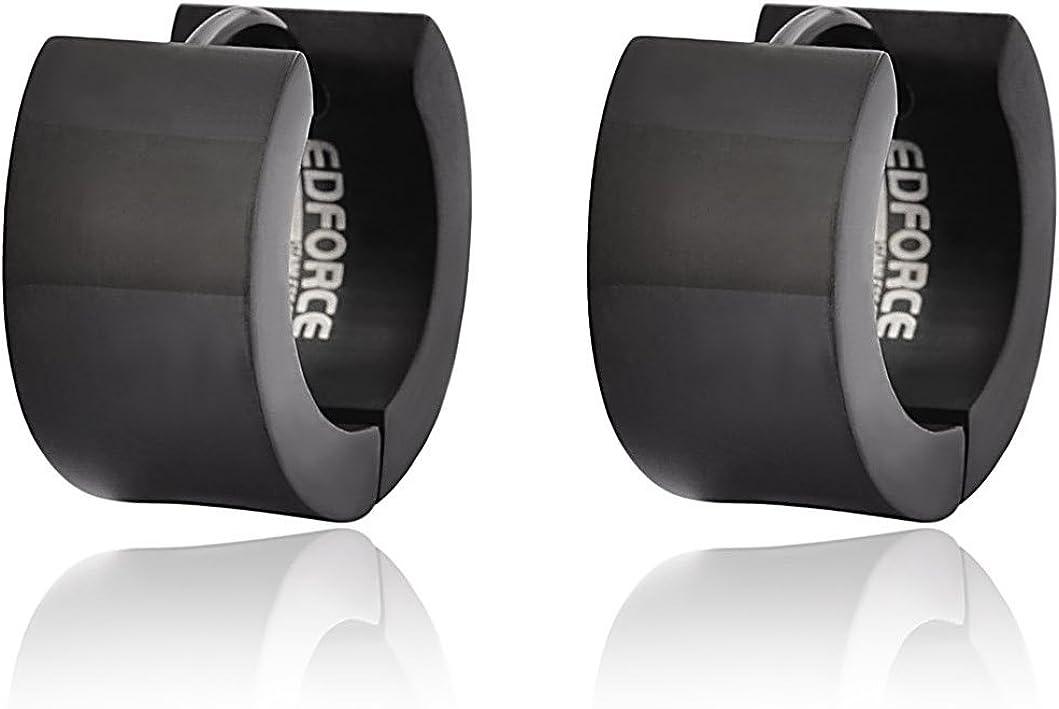 EDFORCE Stainless Steel Small Hoop Huggie Earrings For Mens Womens