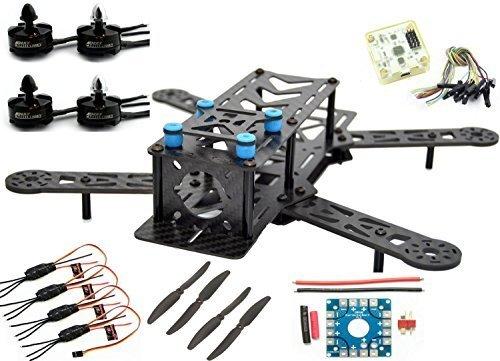 LHI 250mm Pro Pure Carbon Fiber Quadcopter Frame Kit + CC3D Flight Controller + MT2204 2300KV Motor + Simonk 12A ESC + 6030 CF Propeller Prop (Pro Carbon Fiber)