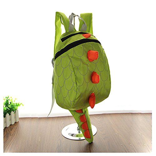Toddler Kids Child Cute Cartoon Dinosaur Animal Nursery Kindergarten Preschool Backpack Snack Toys Books Zoo Park Shoulder Bag Outdoor Carrier Daypack Travel Zipper Rucksack Satchel