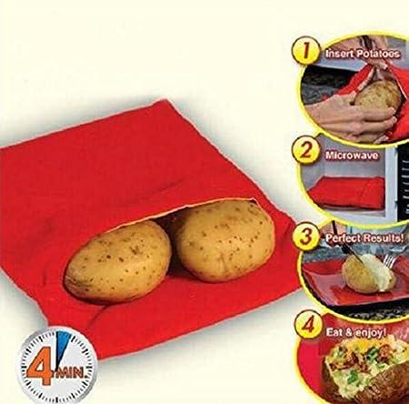 IDEA - Bolsa de cocina de color rojo y lavable, para cocinar ...