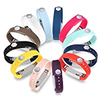 Bandas de reemplazo de accesorio Fitbit Alta HR de GinCoband 12PCS con broche para Fitbit Alta, banda de brazo deportiva Alta HR sin rastreador (pequeño)