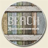 Beach Auto Coaster, Single Coaster for Your Car