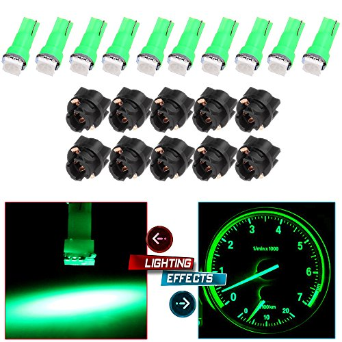 2009 Nissan Altima Dash - cciyu 20X T5 Green Led 1-5050 SMD Dashboard Dash Gauge Instrument Panel Gauge Cluster Light