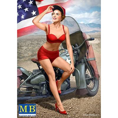 Masterbox Pretty US Army Girl PIN-UP Series , KIT № 1 Marylin 1/24 Master Box 24001: Toys & Games