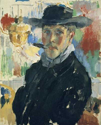 [Oil Painting 'Rik Wouters - Self Portrait With Cigar, 1914' Printing On Perfect Effect Canvas , 24x30 Inch / 61x75 Cm ,the Best Gym Gallery Art And Home Decor And Gifts Is This Best Price Art Decorative Prints On] (God Of War 3 Costumes Hack)