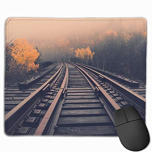 Smooth Mouse Pad Railroad Mobile Gaming Mousepad Work Mouse Pad Office -