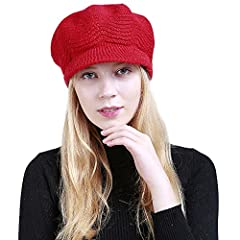 Product Details 100% brand new and high quality. Quantity: 1pc Gender:Women(Adult) New fashion design, Very popular. Material: Knitting Wool Head circumference:about 55cm~65cm Tile diameter:25cm,Brim:6cm One size fit most,stretchy Soft and fa...
