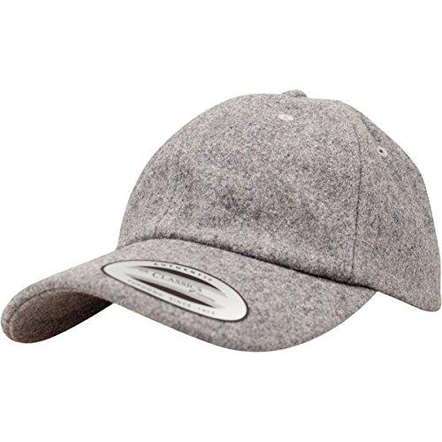 (Flexfit Low Profile Melton Wool Strapback DAD Cap - Heather - One Size)