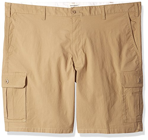 Dockers Men's Big and Tall Cargo Short, New British Khaki/Stretch, 50 (Docker Mens Shorts)