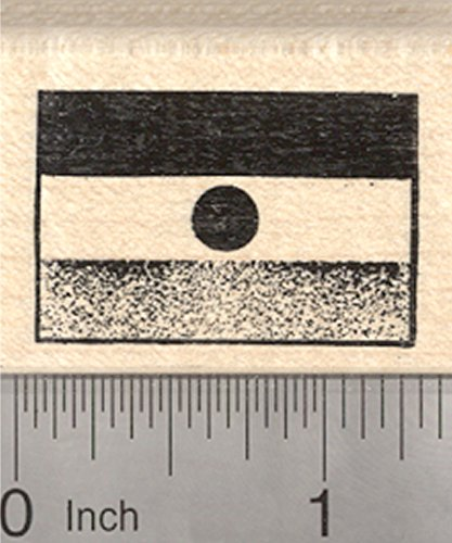 Flag of Republic of Niger Rubber Stamp, West African