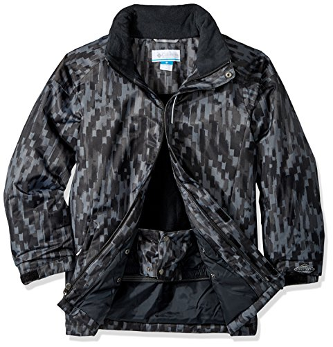 Black Strokes Brushed Pizzo 'twist Jacket Boy Hyper bright Blue Columbia Waterproof qvf8Wcwzn