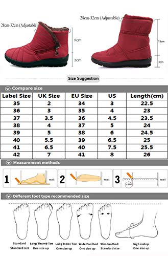Blue Anti Flat Boots Zip Boots Snow Boots Ankle Lined Outdoor Fur DADAZE a Warm Slip Womens Warm Shoes Winter TfR7Rq