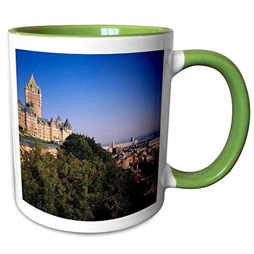 (3dRose Danita Delimont - Hotels - Chateau Frontenac Hotel, Quebec City, Quebec - CN10 WBI0158 - Walter Bibikow - 15oz Two-Tone Green Mug (mug_135409_12))