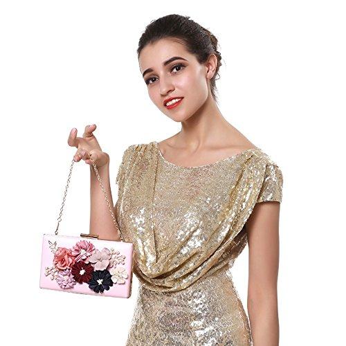Sacs Wedding Bandoulière Party K Main Perlée Cristal Soirée Sac Purse Épaule Femelle Chaîne À Applicant Pochette A Ssmeng Flap Diamants vZqEaxww