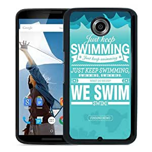 just keep swimming-We swim Black Recommended Customized Design Google Nexus 6 Case