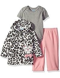 Baby Girls' 3 Piece Microfleece Jacket Set