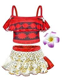 Jurebecia Moana Swimsuit Toddler Girls Two Piece Bikinis Princess Swimwear Set
