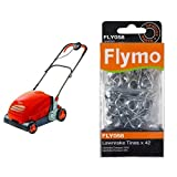Flymo Lawnrake Compact 3400 Electric Lawnrake with Genuine Flymo 42 Replacement Metal Tines