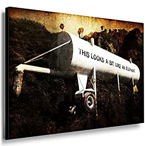 Banksy Graffiti Street Art -1095, Size 100x70x2 Cm. Printed On Canvas Stretched On A Wooden Frame.