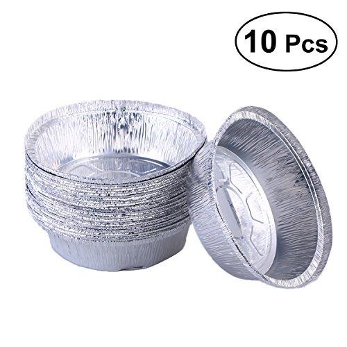 - BESTonZON Aluminum Foil Pie Pans,10pcs Round Pie Pans Disposable Tin Pans for Baking, Roasting, Broiling Cooking, Meals Prep(No Lids/6 Inch)