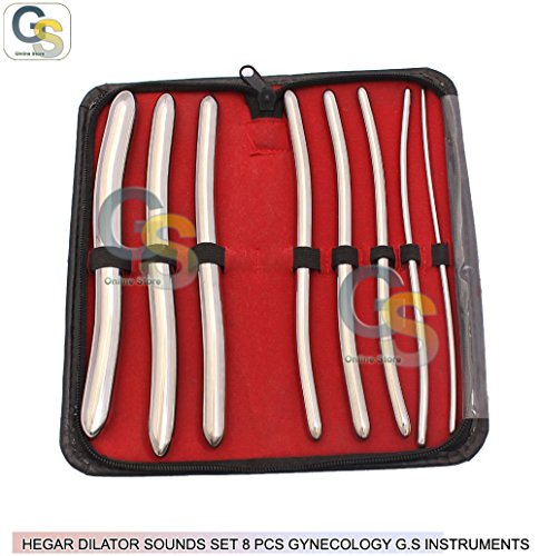HEGAR DILATOR SOUNDS SET 8 PCS GYNECOLOGY G.S INSTRUMENTS