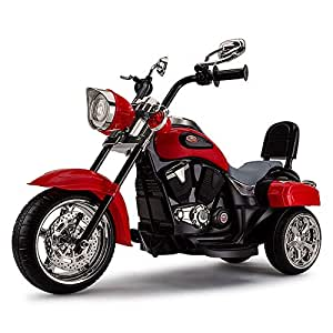 Rovo Kids Electric Ride on Harley Style Motorcycle, Red