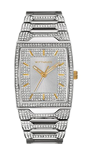 (Wittnauer Crystal Pave Setting Stainless Steel Mens Watch )