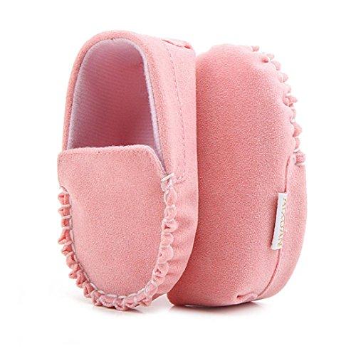 Jamicy® Baby Mädchen Jungen Velours weiche Sohle Schuhe Flats Krippe Schuhe Rosa